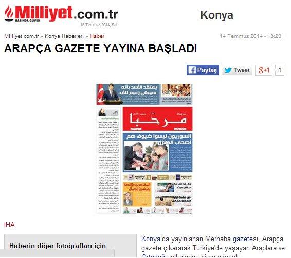 Arapça gazete gündem oldu 8