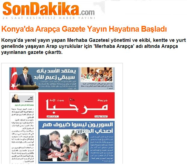 Arapça gazete gündem oldu 9