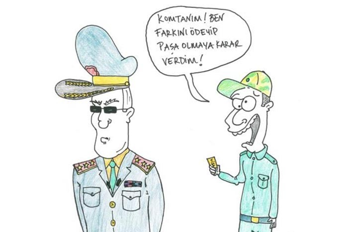 Bedelli askerlik karikatürlere yansıdı 10