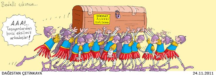 Bedelli askerlik karikatürlere yansıdı 2