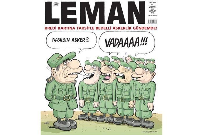 Bedelli askerlik karikatürlere yansıdı 9