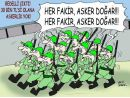 Bedelli askerlik karikatürlere yansıdı
