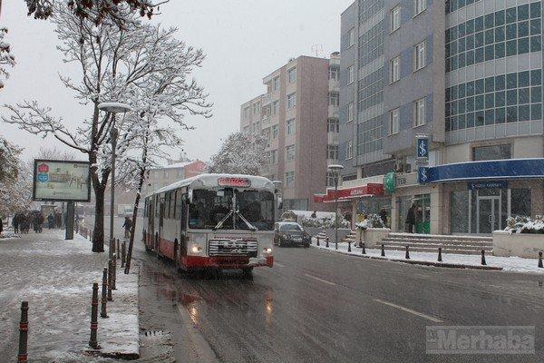 Şehir beyaza büründü 11