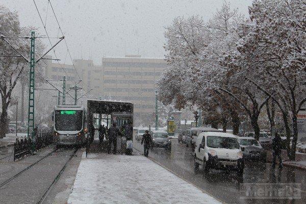 Şehir beyaza büründü 4