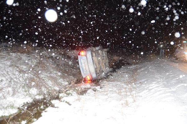 Konyada ulaşıma kar engeli 1
