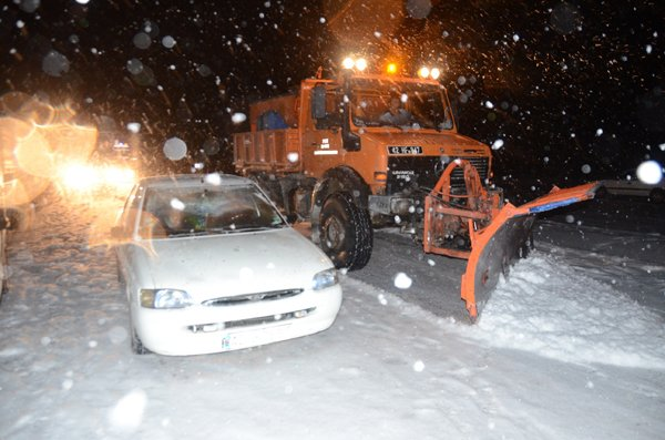 Konyada ulaşıma kar engeli 7