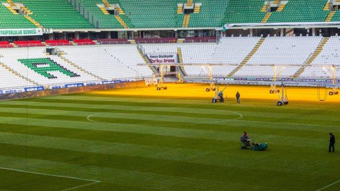 Torku Arenada çimler solaryumla esmerleşiyor 3