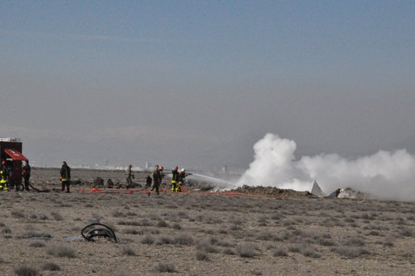 Konyada askeri uçak düştü! 2