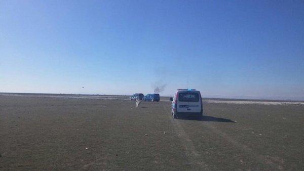 Konyada askeri uçak düştü! 8