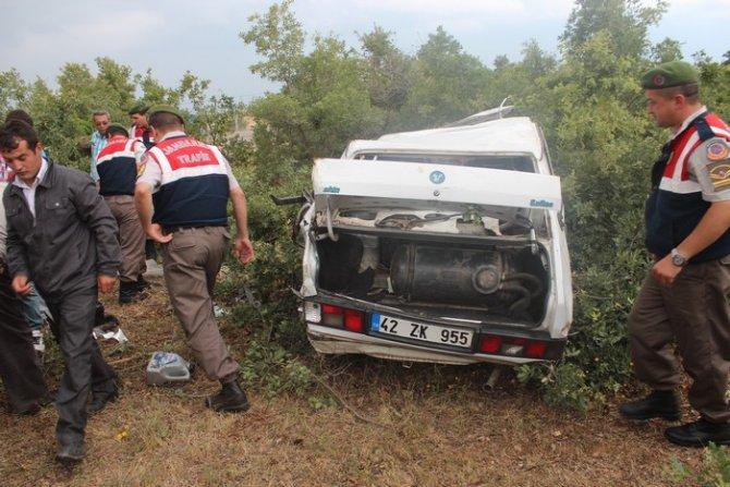 Beyşehirde trafik kazası: 1 ölü, 6 yaralı 11