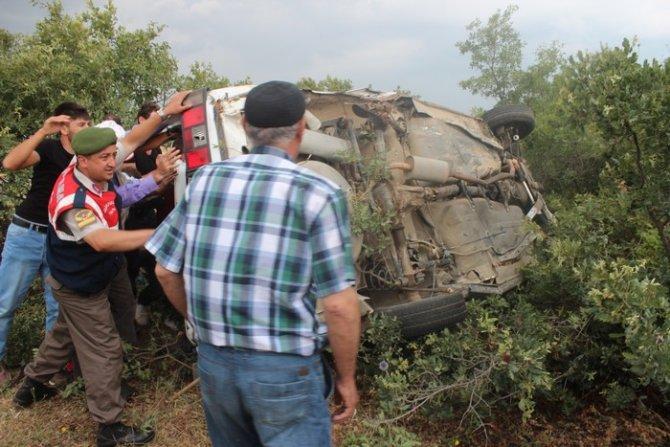 Beyşehirde trafik kazası: 1 ölü, 6 yaralı 9
