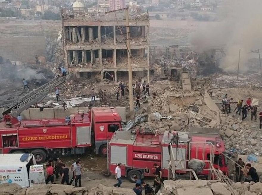 Cizre Emniyet Müdürlüğü Binasına Bombalı Saldırı 4