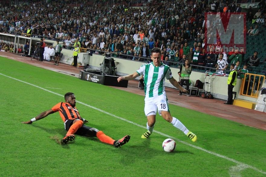 Atiker Konyaspor-Shakhtar Donetsk maçından kareler 13