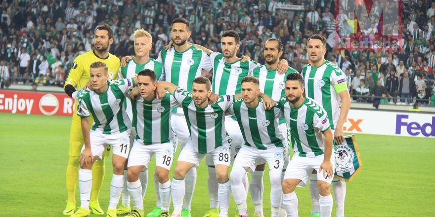 Atiker Konyaspor-Shakhtar Donetsk maçından kareler