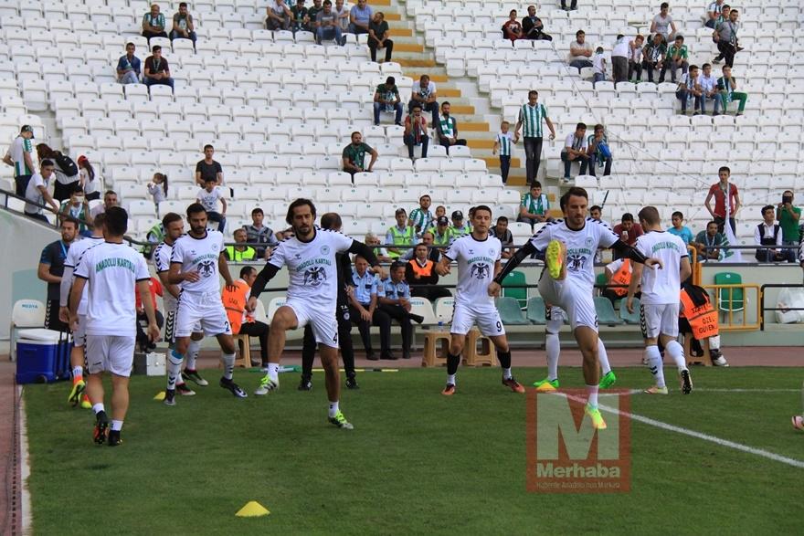 Konyspor-Gençlerbirliği maçı öncesi kameralara yansıyanlar 1