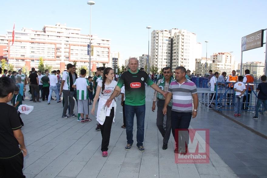 Konyspor-Gençlerbirliği maçı öncesi kameralara yansıyanlar 5