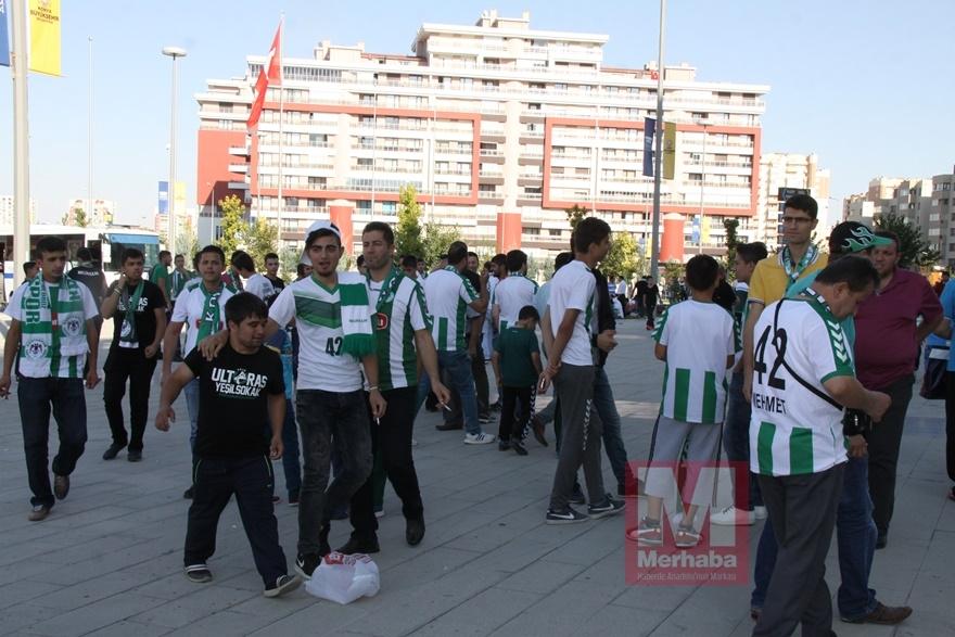 Konyspor-Gençlerbirliği maçı öncesi kameralara yansıyanlar 6