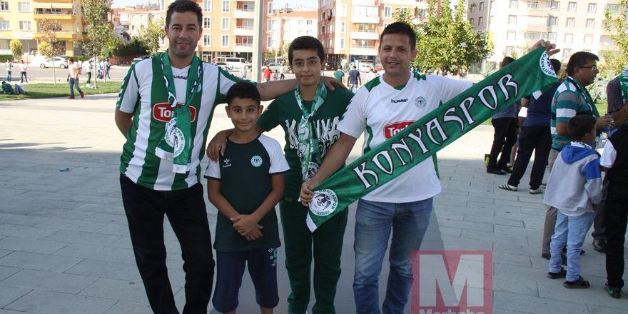 Konyspor-Gençlerbirliği maçı öncesi kameralara yansıyanlar