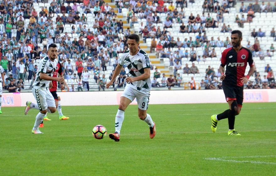 Konyaspor-Gençlerbirliği maçından kareler 13
