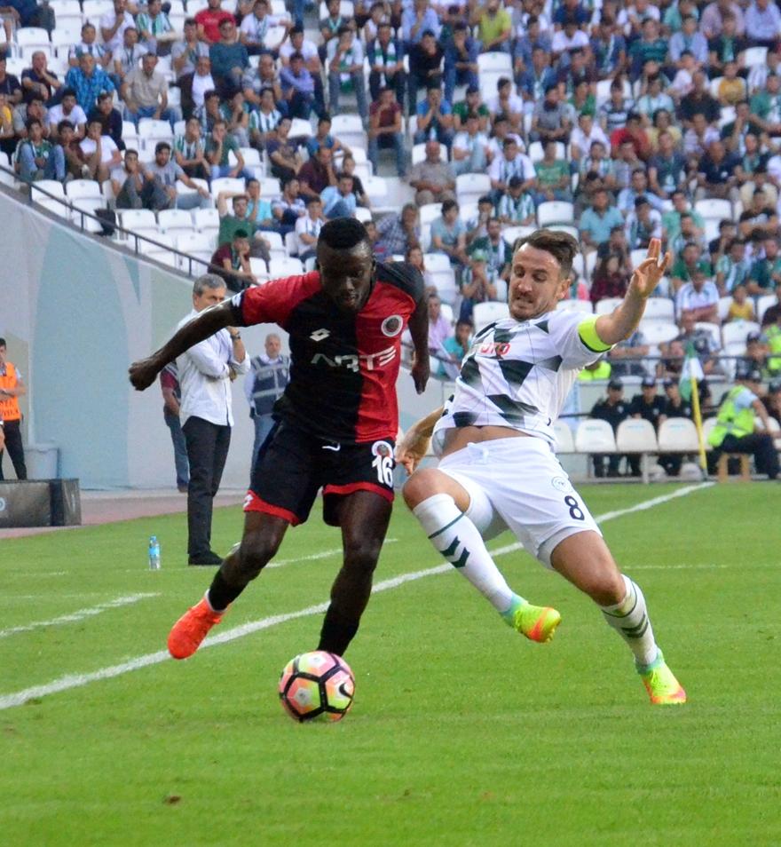 Konyaspor-Gençlerbirliği maçından kareler 14