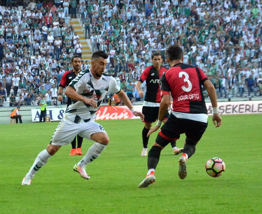 Konyaspor-Gençlerbirliği maçından kareler 18