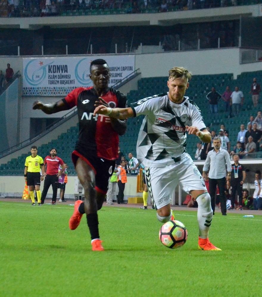 Konyaspor-Gençlerbirliği maçından kareler 2