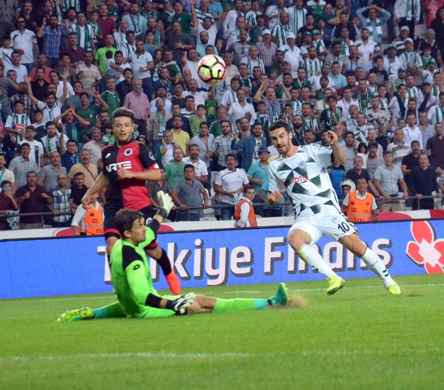 Konyaspor-Gençlerbirliği maçından kareler 3