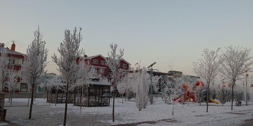 Şehir dondu