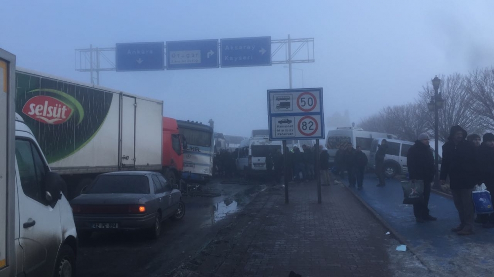 Konya'da zincirleme trafik kazası 2