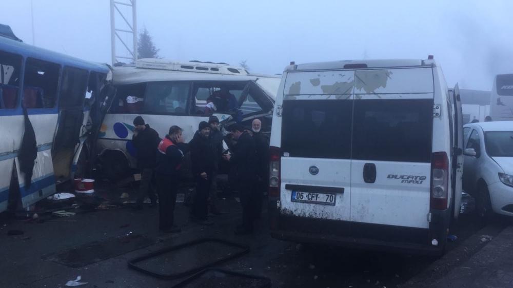 Konya'da zincirleme trafik kazası 3