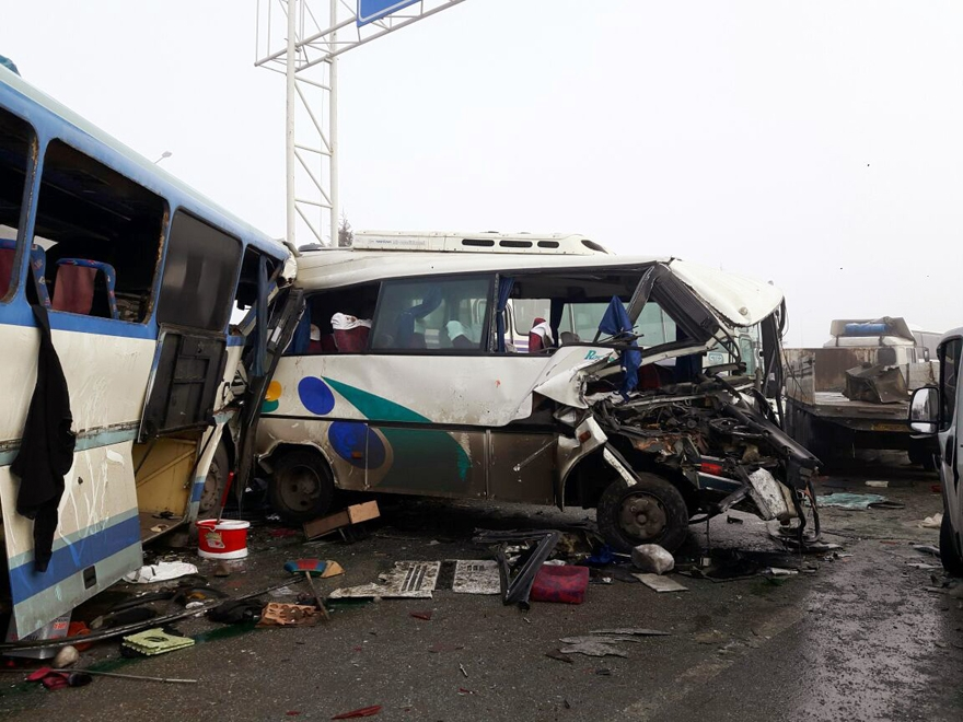 Konya'da zincirleme trafik kazası 9