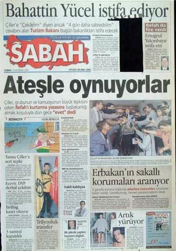 28 Şubat postmodern darbenin utanç manşetleri 24