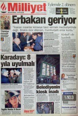 28 Şubat postmodern darbenin utanç manşetleri 43