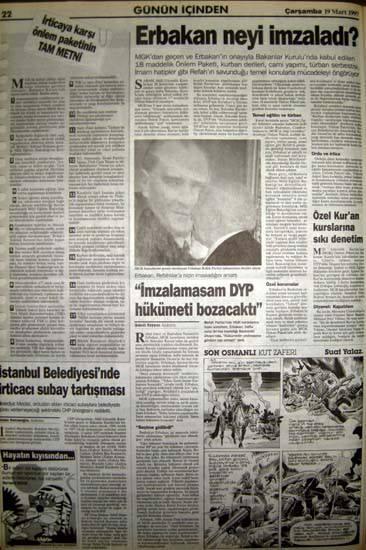 28 Şubat postmodern darbenin utanç manşetleri 83