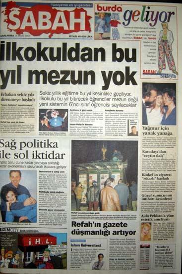 28 Şubat postmodern darbenin utanç manşetleri 86