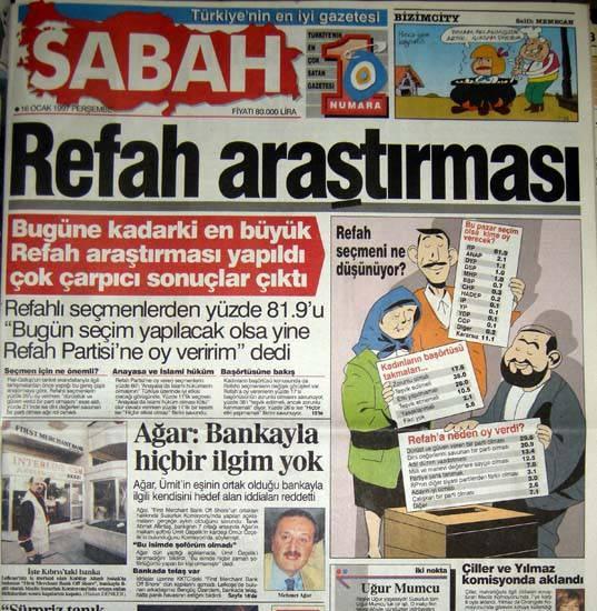 28 Şubat postmodern darbenin utanç manşetleri 95