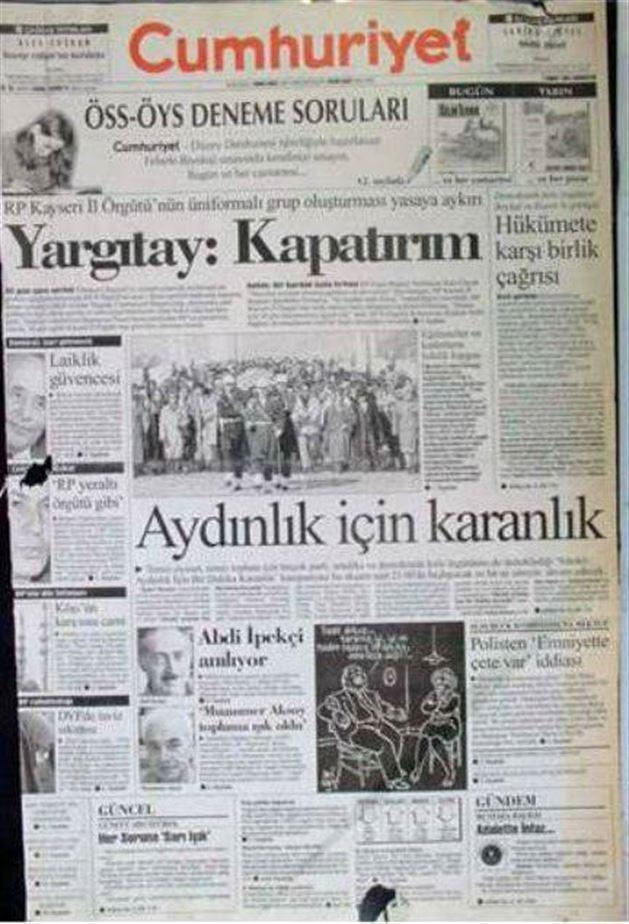 28 Şubat postmodern darbenin utanç manşetleri 96