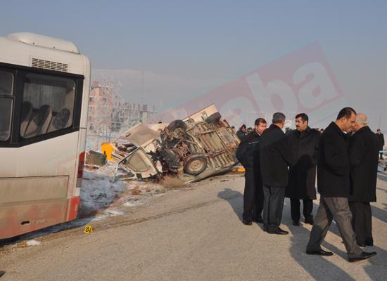 Konyada feci kaza: 5 ölü 8 yaralı 2