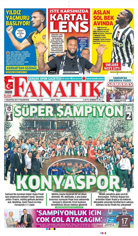 İstanbul basını Süper Kupa Şampiyonluğu böyle yer buldu 1