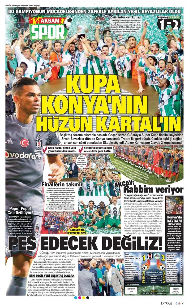 İstanbul basını Süper Kupa Şampiyonluğu böyle yer buldu 2
