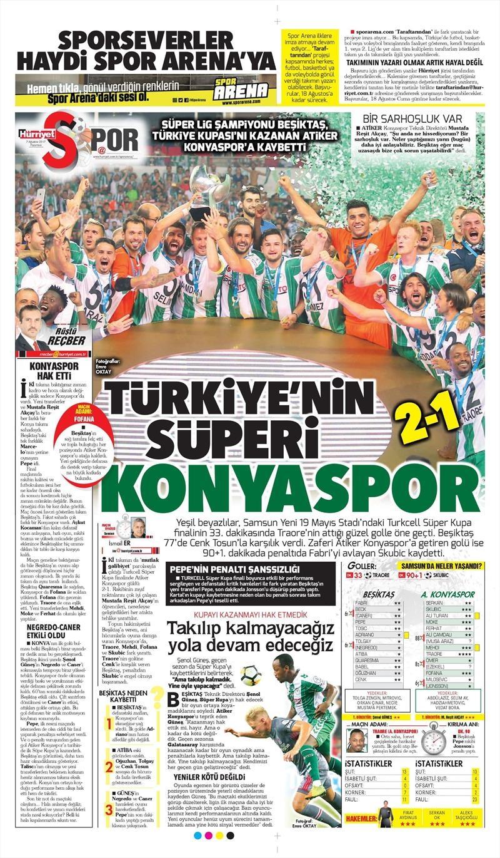 İstanbul basını Süper Kupa Şampiyonluğu böyle yer buldu 4