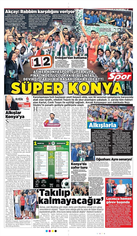 İstanbul basını Süper Kupa Şampiyonluğu böyle yer buldu 5