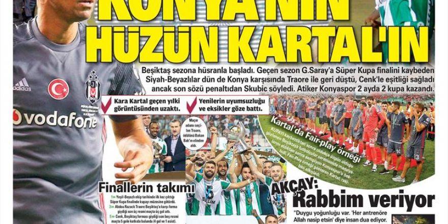 İstanbul basını Süper Kupa Şampiyonluğu böyle yer buldu