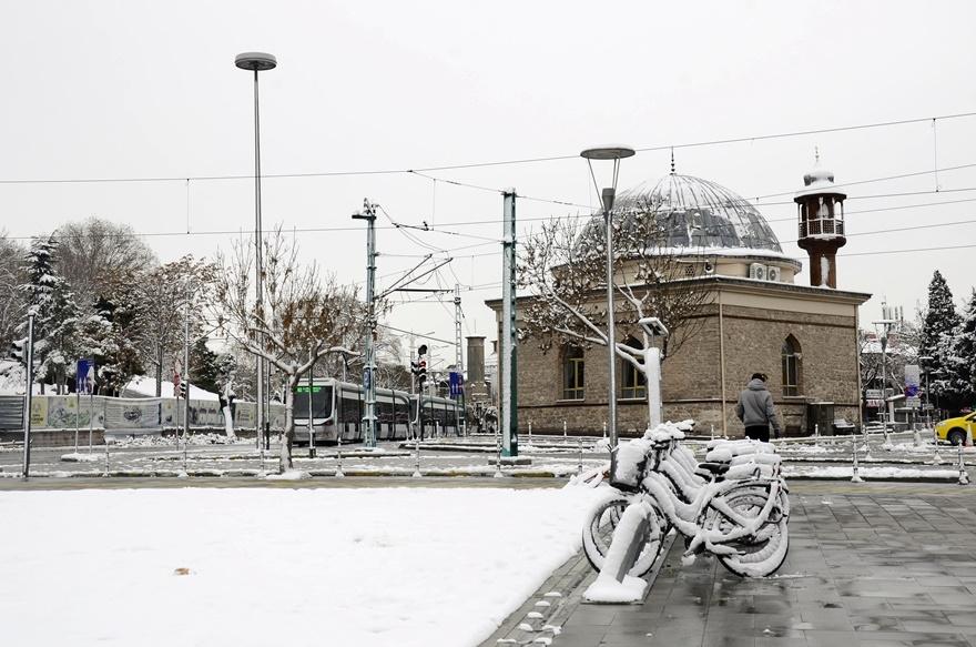 Şehir beyaza büründü 1