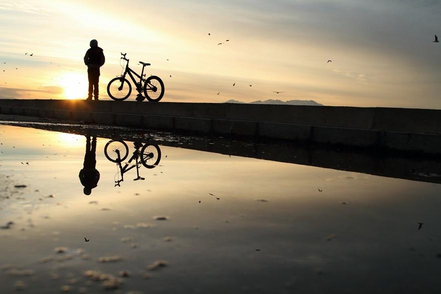 Beyşehir Gölü'nde günbatımı kartpostallık görüntüler oluşturduKaynak: Be 1