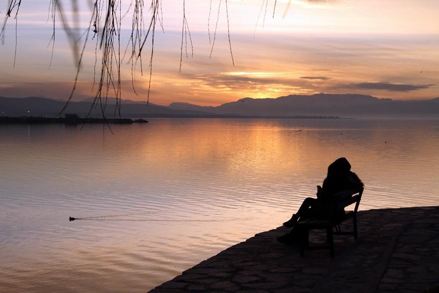 Beyşehir Gölü'nde günbatımı kartpostallık görüntüler oluşturduKaynak: Be 5
