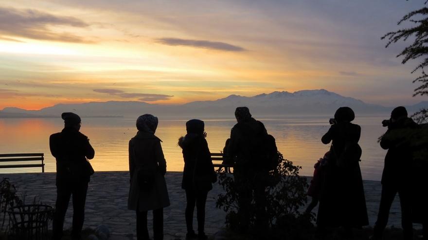 Beyşehir Gölü'nde günbatımı kartpostallık görüntüler oluşturduKaynak: Be 6