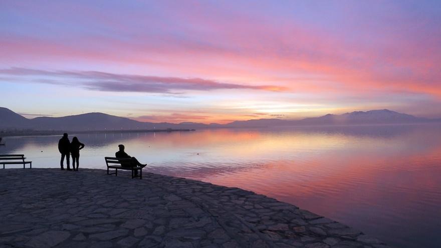 Beyşehir Gölü'nde günbatımı kartpostallık görüntüler oluşturduKaynak: Be 7