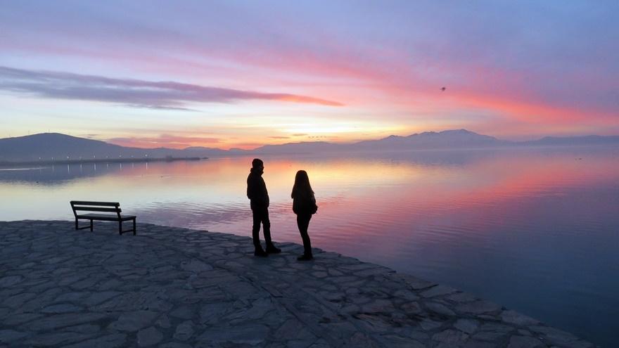 Beyşehir Gölü'nde günbatımı kartpostallık görüntüler oluşturduKaynak: Be 8
