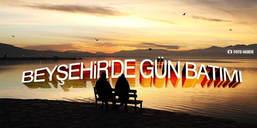 Beyşehir Gölü'nde günbatımı kartpostallık görüntüler oluşturduKaynak: Be